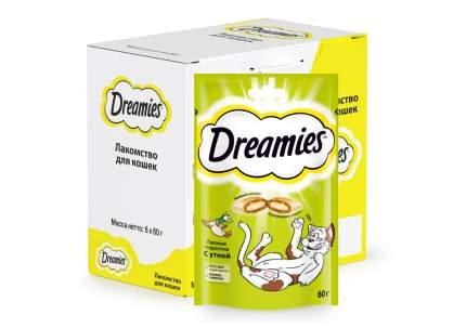 Лакомство для кошек Dreamies, Лакомые подушечки с уткой, 6 шт по 60г