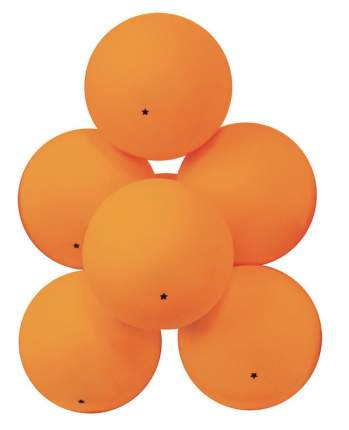 Мячи для настольного тенниса Atemi ATB101 1*, оранжевый, 6 шт.