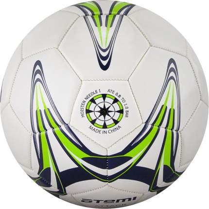 Мяч футбольный Atemi ATTACK PVC foam, бел/т.син/салат.,р.4, м/ш (0,4-0,6 bar),окруж 68-71