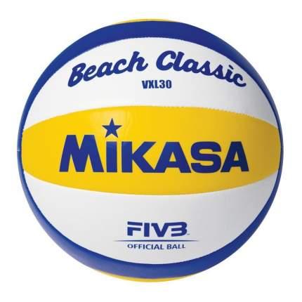 Мяч для пляжного волейбола MIKASA, №5 синт. кожа (ТПУ), м/ш, 10 п, VXL 30