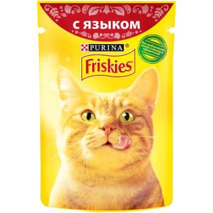 Влажный корм для кошек Friskies, с языком в подливе, 85г
