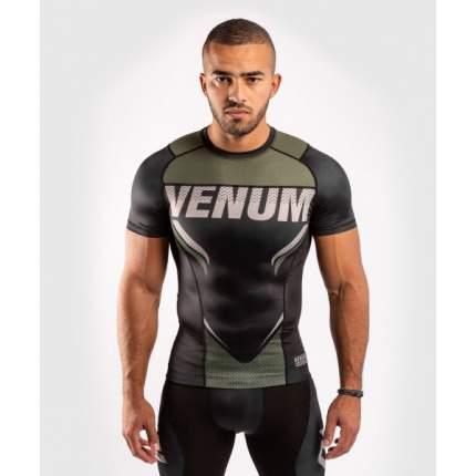 Рашгард Venum ONE FC Impact Black/Khaki S/S
