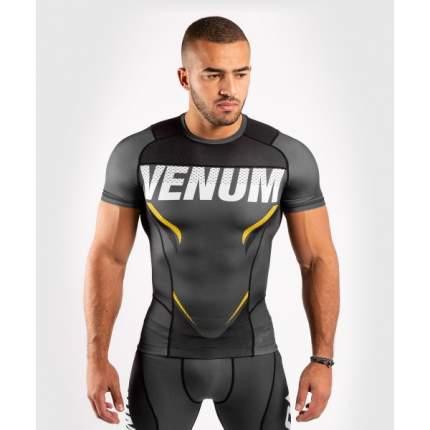 Рашгард Venum ONE FC Impact Grey/Yellow S/S