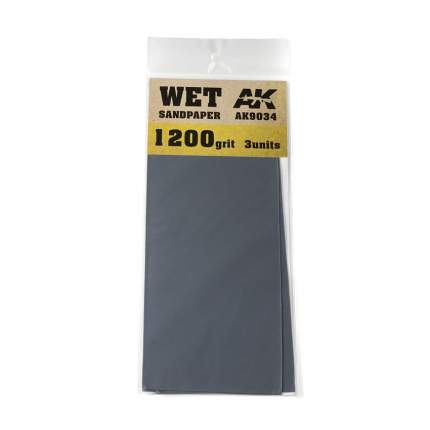 Комплект наждачной бумаги AK Interactive для мокрого шлифования (gr1200) AK9034
