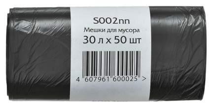 Мешки д/мусора ПНД, 30л, 50шт, 50х60, 7,5 мкм, черные