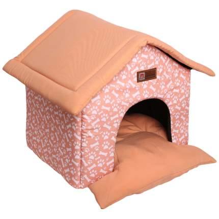 Домик для кошек и собак ЗООГУРМАН Ампир, бежевый, белый, 45x45x40см