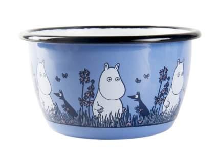 Пиала эмалированная Moomin Friends 300 мл, голубая 1713-030-12
