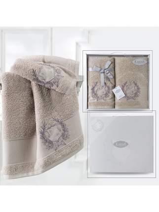 Комплект махровых полотенец Karna Davis 50х90 +70х140 кофейный