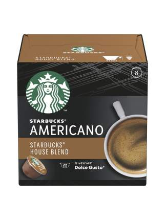 Кофе в капсулах Starbucks House Blend Americano для  Nescafe Dolce Gusto 12 шт