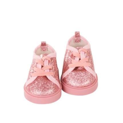 Обувь для кукол Gotz туфли с блестками на шнурках розовые, 42-50 см