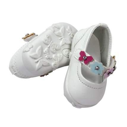 Обувь для кукол Gotz туфли белые с цветочным ремешком, 42-50 см