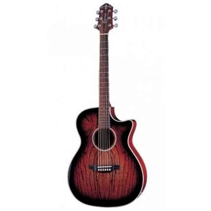 Электроакустическая гитара шестиструнная CRAFTER JTE 100CEQ DBS  Чехол