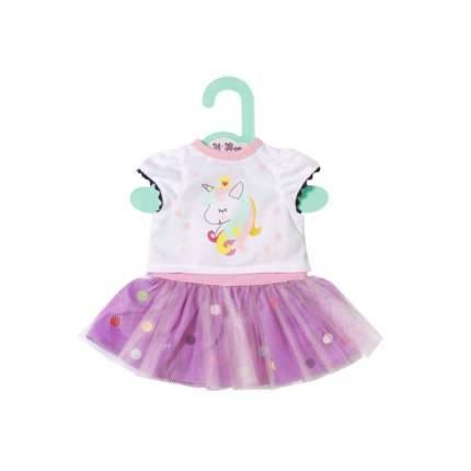 Одежда для куклы Zapf Creation Беби Бон Футболка с балетной юбкой, 34-38 см