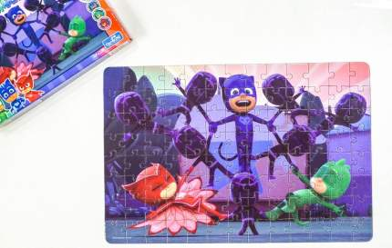 Пазл Origami Герои в масках Кэтбой и Гекко, 104 элемента