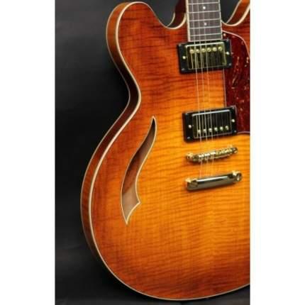 Полуакустическая гитара CRAFTER SEG 480TM VTG-V  Кейс