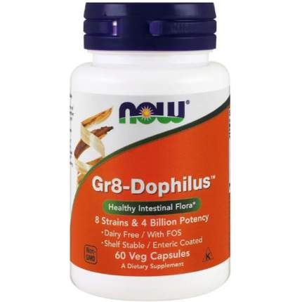 Комплекс пребиотиков NOW Gr8-Dophilus капсулы 60 шт.