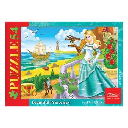 Пазл Hatber Красивые принцессы, 54 элемента