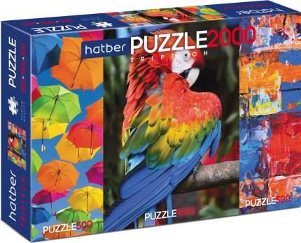 Пазл-триптих Hatber Premium Яркие краски, 500+1000+ 500 элементов