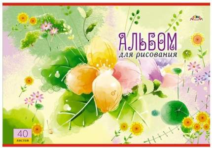 """Альбом для рисования на скрепке, 40 листов, А4, """"Желтые цветы"""""""