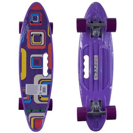 Пластиковый скейтборд Shenzhen Toys с ручкой, фиолетовый
