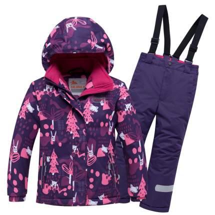 Комплект верхней одежды VALIANLY, цв. фиолетовый р. 98