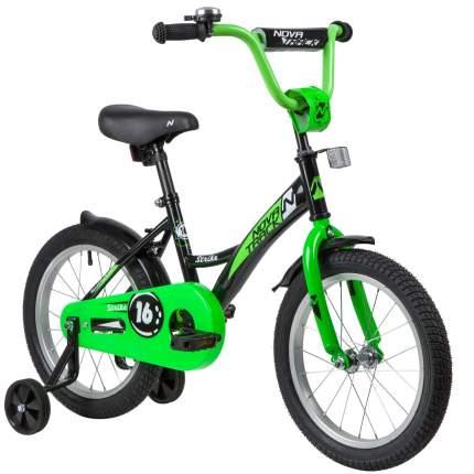 Велосипед Novatrack Strike черный-зеленый