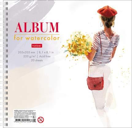 """Альбом для акварели на гребне """"Beautiful"""", А5, 20 листов, 220 г/м2"""