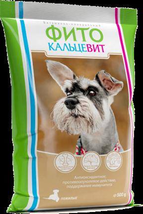 Пищевая добавка для домашних питомцев Биофармтокс Фитокальцевит для пожилых собак 500г