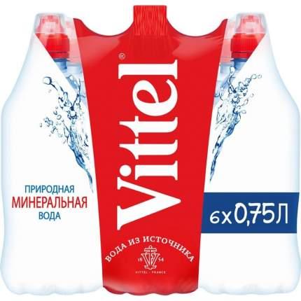 Минеральная вода н/газ Vittel 0;75л пэт по 6 штук
