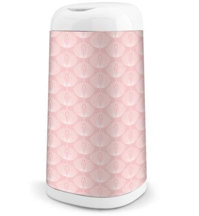 Чехол для накопителя подгузников Dress up розовый, рисунок цветы