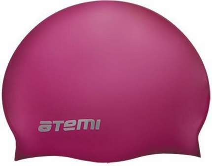 Шапочка для плавания Atemi TC404 малиновая