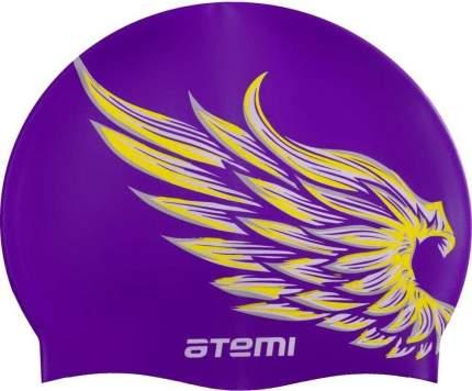 Шапочка для плавания Atemi PSC308 лиловая/крылья