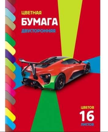 """Бумага цветная """"ECO. Sport car"""", А4, 16 листов, 16 цветов"""
