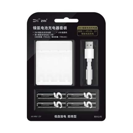 Зарядное устройство Xiaomi ZMI PB401 + аккумуляторы AA 1750мАч, 4 шт