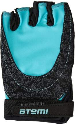 Перчатки для фитнеса Atemi, черно-голубые, AFG06BE (M)