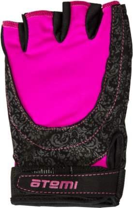 Перчатки для фитнеса Atemi, черно-розовые, AFG06P (XS)
