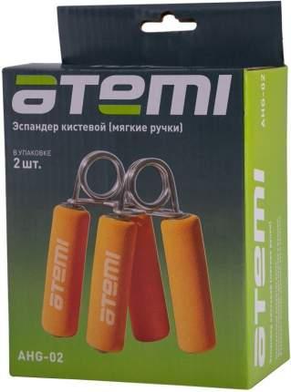 Кистевой эспандер Atemi AHG02 оранжевый/серебристый, 2 шт.