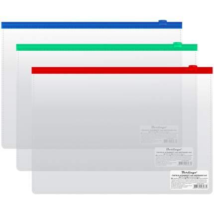 Папка на молнии А4, прозрачная