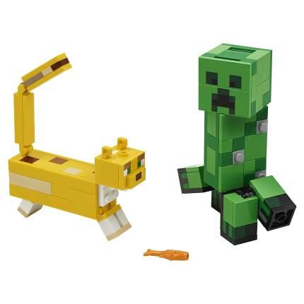 Конструктор LEGO Minecraft 21156 Большие фигурки Minecraft, Крипер и Оцелот