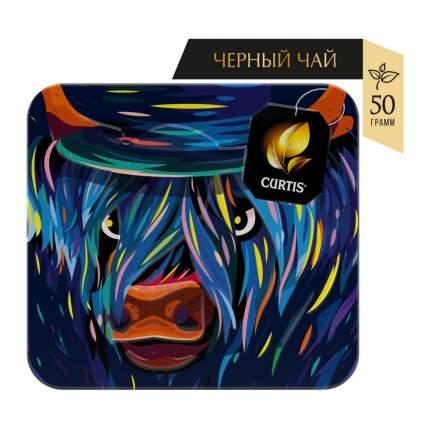 """Чай Curtis """"Art Collection 2021. Blue hat"""", чёрный с добавками, 50 гр"""