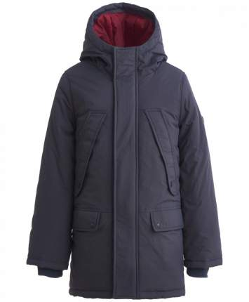 Пальто для мальчиков Button Blue, цв. серый, р.98