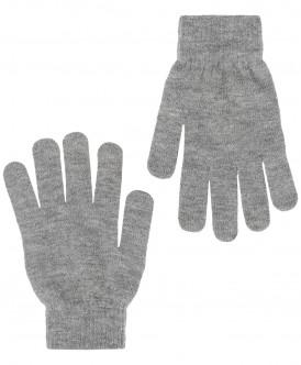 Перчатки для мальчиков Button Blue, цв. серый, р.18