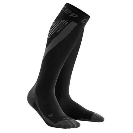 Гетры компрессионные CEP Nighttech Compression Knee Socks, black, 8-11 US