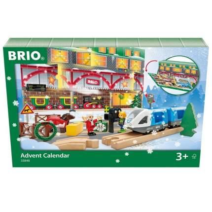 Новогодний рождественский адвент календарь 2020 BRIO с сюрпризами железной дорогой