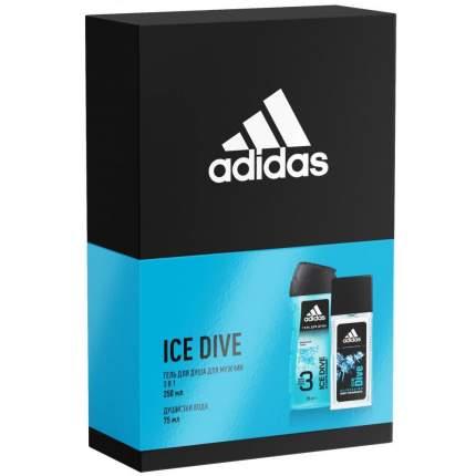 Подарочный набор Adidas Ice dive: душистая вода 75мл + гель для душа 250мл