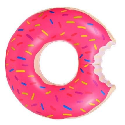 Детский надувной круг Baziator Пончик розовый, диаметр 60 см