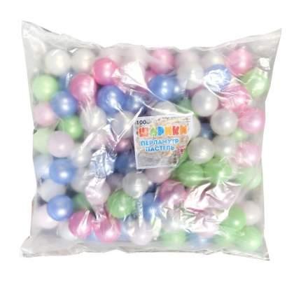 Набор шариков ЮгПласт Перламутр пастель, 5 см, 100 шт.
