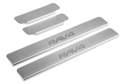 Накладки на пороги RIVAL для Toyota RAV 4 XA30 2005-2010, с надписью, 4 шт., NP.5713.1