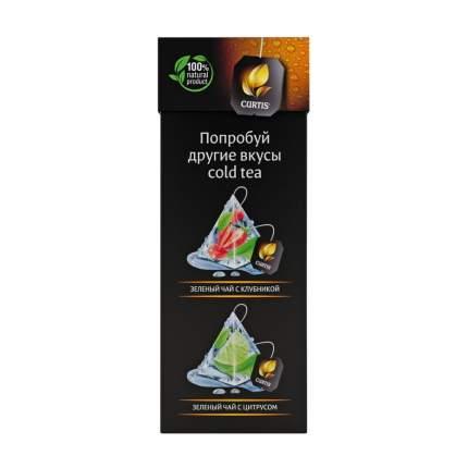 """Чай Tea.ru Curtis """"Cold Tea. Черный чай с белым персиком"""", чёрный с добавками 12 пирамидок"""