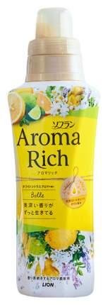 Ополаскиватель Lion soflan aroma rich belle для белья с ароматическими маслами 520 мл